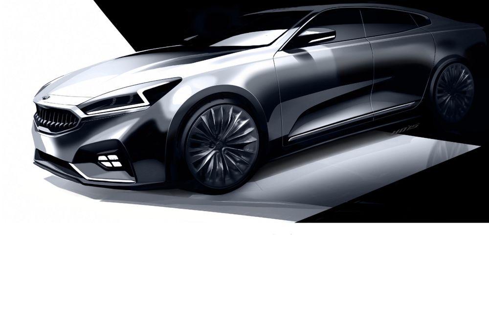 Kia ne arată primele schițe ale lui Cadenza, modelul cu care vrea să se lupte cu greii din segmentul premium - Poza 1