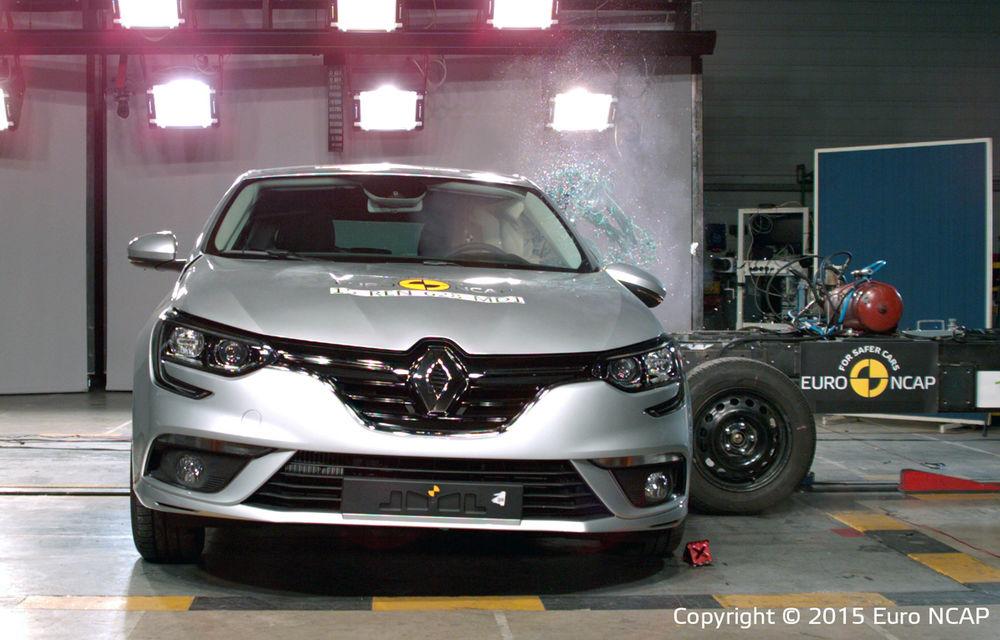 Rezultate EuroNCAP: noile Renault Megane şi Opel Astra primesc cinci stele, la fel ca alte 9 maşini lansate recent. Doar două stele pentru Lancia Ypsilon - Poza 1