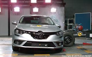 Rezultate EuroNCAP: noile Renault Megane şi Opel Astra primesc cinci stele, la fel ca alte 9 maşini lansate recent. Doar două stele pentru Lancia Ypsilon
