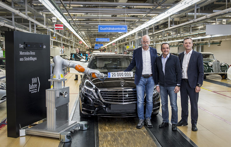Mercedes S-Klasse, artizanul unui nou record pentru constructorul german: 20 de milioane de mașini produse la uzina din Sindelfingen - Poza 1