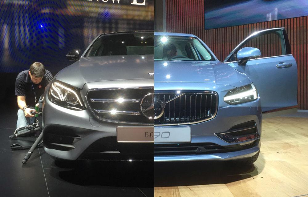 Live from Detroit. Noile Volvo S90 și Mercedes Clasa E s-au duelat în direct la NAIAS 2016 - Poza 1
