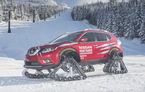 Nissan X-Trail s-a pregătit pentru deszăpezire: a schimbat cauciucurile de iarnă cu șenile (VIDEO)
