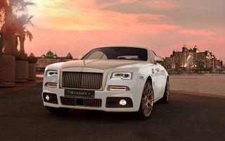 Bling, bling pentru Orientul Mijlociu: Mansory își dă doctoratul în opulență pe un Rolls Royce Wraith
