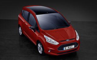 În loc de facelift: Ford lansează B-Max Colour Edition, care aduce o versiune de 140 CP a motorului 1.0 EcoBoost