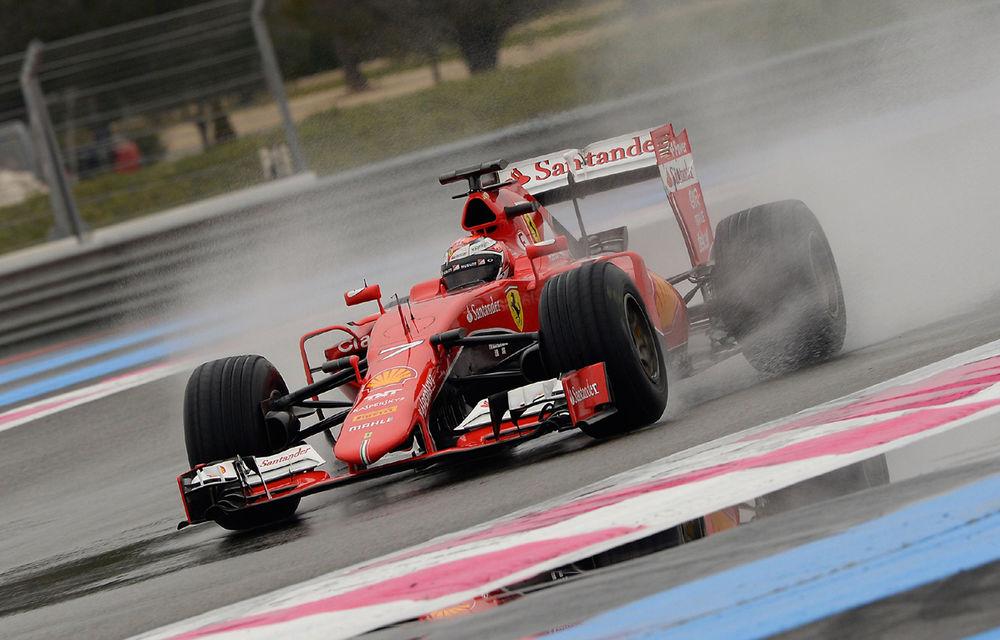 Ferrari, McLaren şi Red Bull au testat pneurile de ploaie la Paul Ricard - Poza 1
