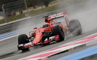 Ferrari, McLaren şi Red Bull au testat pneurile de ploaie la Paul Ricard