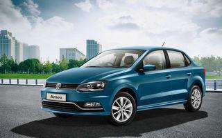 Concurent de la distanță cu Logan: Volkswagen Ameo, versiunea sedan a lui Polo, s-a lansat în India