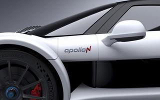Cea mai rapidă mașină de serie din lume bate la ușă: ApolloN, anunțat de un teaser