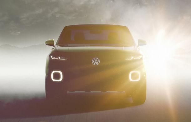 Un rival pentru Nissan Juke: Volkswagen dezvăluie un teaser pentru conceptul unui nou SUV accesibil - Poza 1