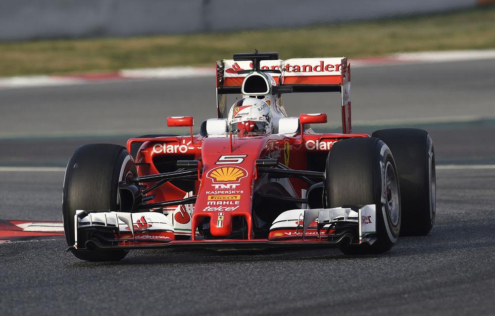 Teste Barcelona, ziua 2: Vettel rămâne cel mai rapid. Mercedes introduce inovaţii la podea - Poza 1