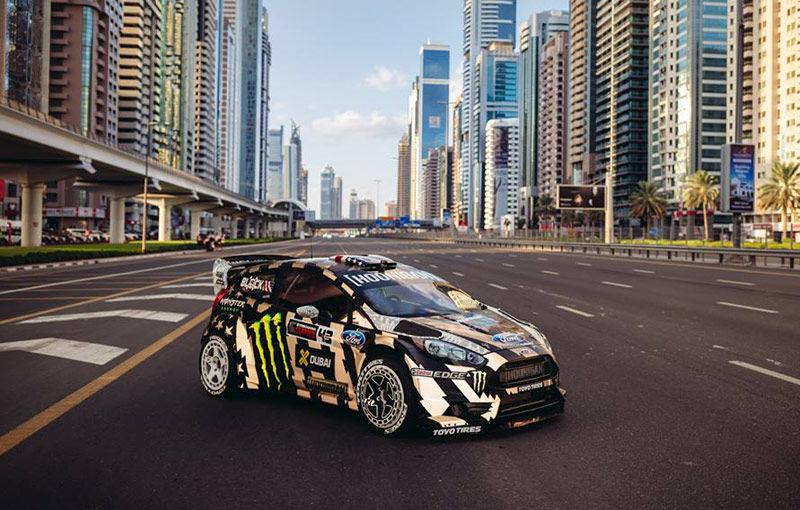 Gymkhana 8 s-a copt la soare în Dubai și va debuta alături de Ford Fiesta ST și flota de supercaruri a poliției saudite - Poza 1