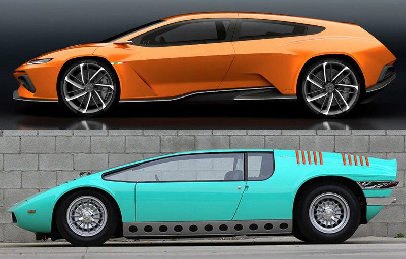 Istorie științifico-fantastică: conceptul GTZero, creat de Italdesign Giugiaro, amestecă liniile unor modele din trecut cu trei motoare electrice - Poza 2