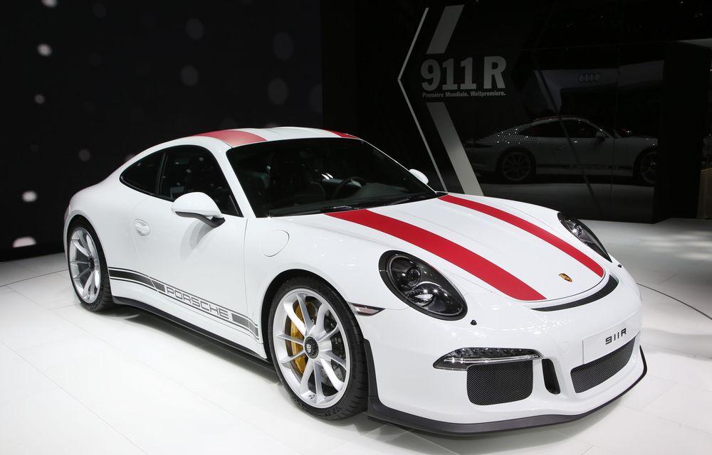 GENEVA 2016 LIVE: Porsche a mizat pe puritate sportivă: 911 R și noul 718 Boxster - Poza 4