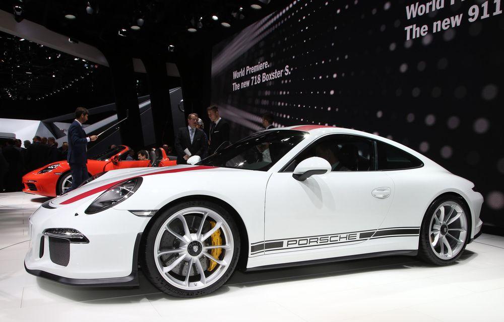 GENEVA 2016 LIVE: Porsche a mizat pe puritate sportivă: 911 R și noul 718 Boxster - Poza 6