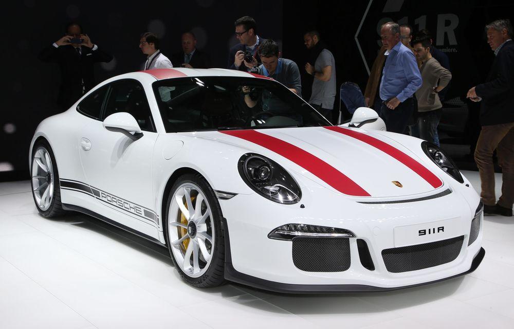 GENEVA 2016 LIVE: Porsche a mizat pe puritate sportivă: 911 R și noul 718 Boxster - Poza 2
