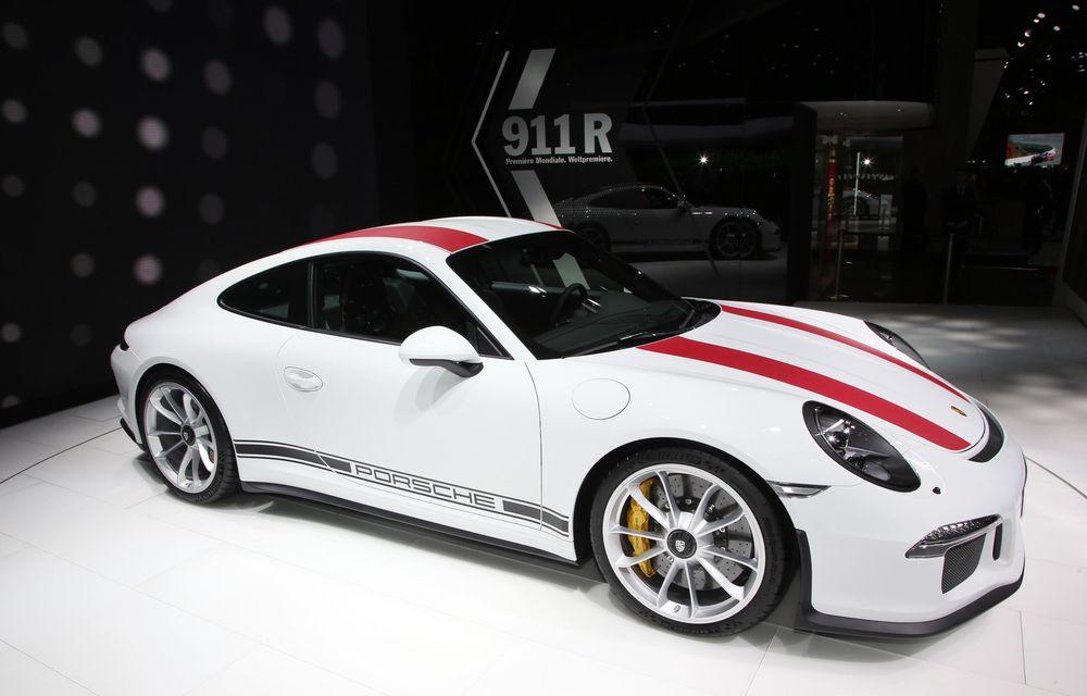 GENEVA 2016 LIVE: Porsche a mizat pe puritate sportivă: 911 R și noul 718 Boxster - Poza 5