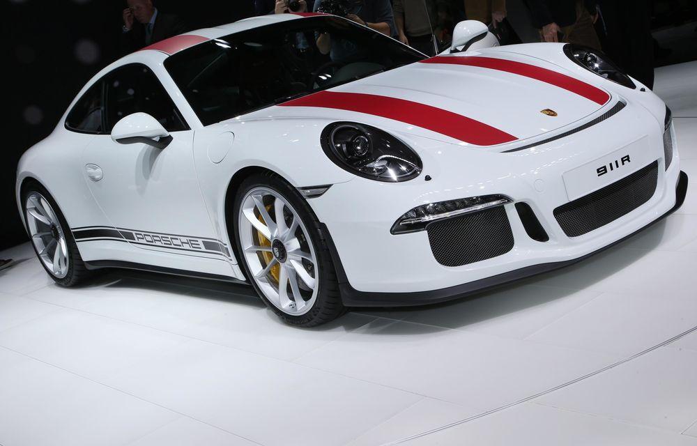 GENEVA 2016 LIVE: Porsche a mizat pe puritate sportivă: 911 R și noul 718 Boxster - Poza 3