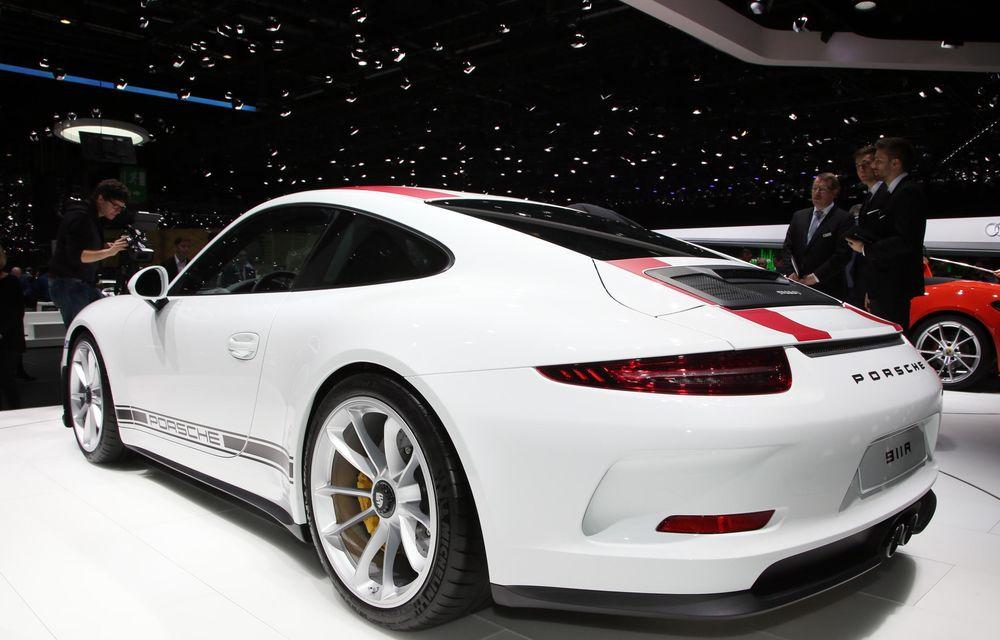 GENEVA 2016 LIVE: Porsche a mizat pe puritate sportivă: 911 R și noul 718 Boxster - Poza 7