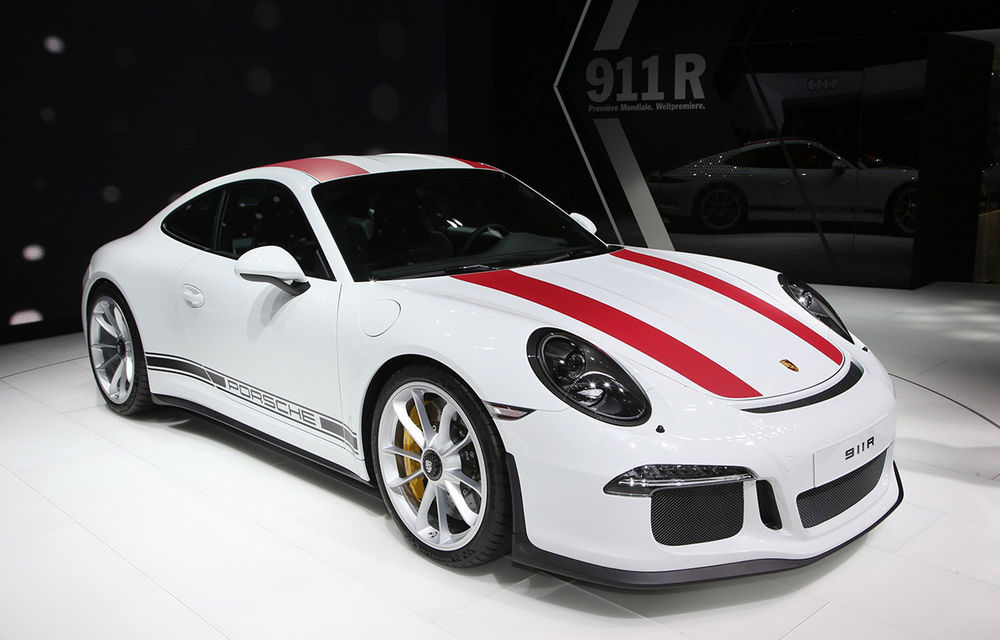 GENEVA 2016 LIVE: Porsche a mizat pe puritate sportivă: 911 R și noul 718 Boxster - Poza 1