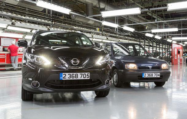 Inversare de poziții: Qashqai depășește Micra în topul producției all-time Nissan din Europa - Poza 1
