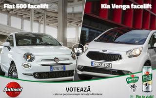 Duelul de astăzi în Autovot 2016: Fiat 500 versus Kia Venga