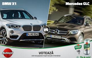 Mercedes vs. BMW astăzi în Autovot 2016: GLC se luptă cu X1 pentru calificare