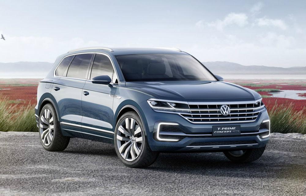Burduşit cu tehnologie: Volkswagen T-Prime Concept GTE anticipează designului viitorului Touareg - Poza 1