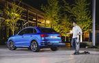 Audi a găsit o soluție pentru traficul de coșmar: o trotinetă electrică ascunsă sub crossover-ul Q3