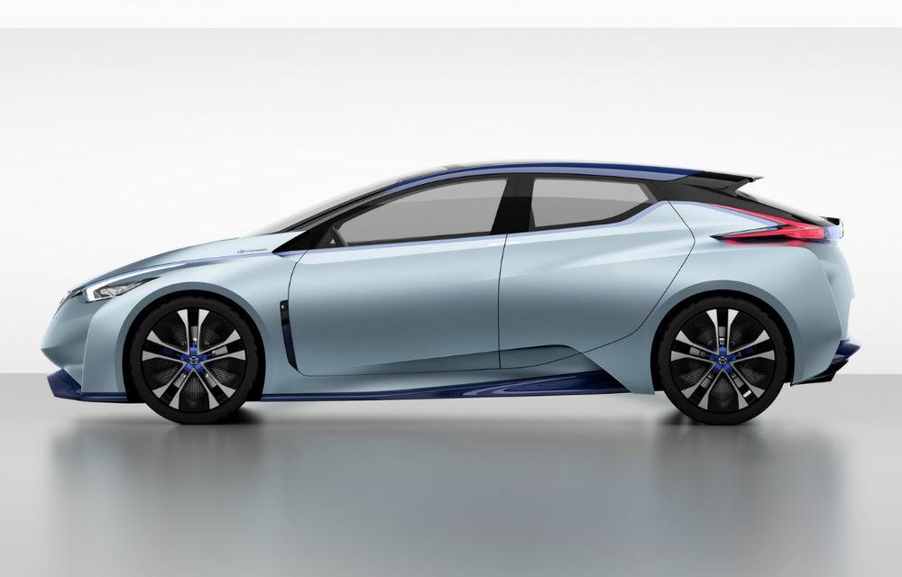 550 de kilometri autonomie cu o electrică de segment compact: Nissan promite o nouă generație a modelului Leaf în 2018 - Poza 1
