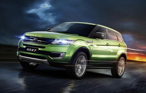 Războiul contra copiatorilor chinezi continuă: Land Rover nu primește patentul pe designul lui Evoque în China, dar dă în judecată Jiangling pentru copierea SUV-ului britanic - Poza 1