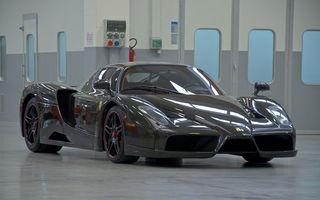 Cel mai scump Ferrari Enzo nu este nici măcar vopsit: exemplarul se vinde cu trei milioane de euro