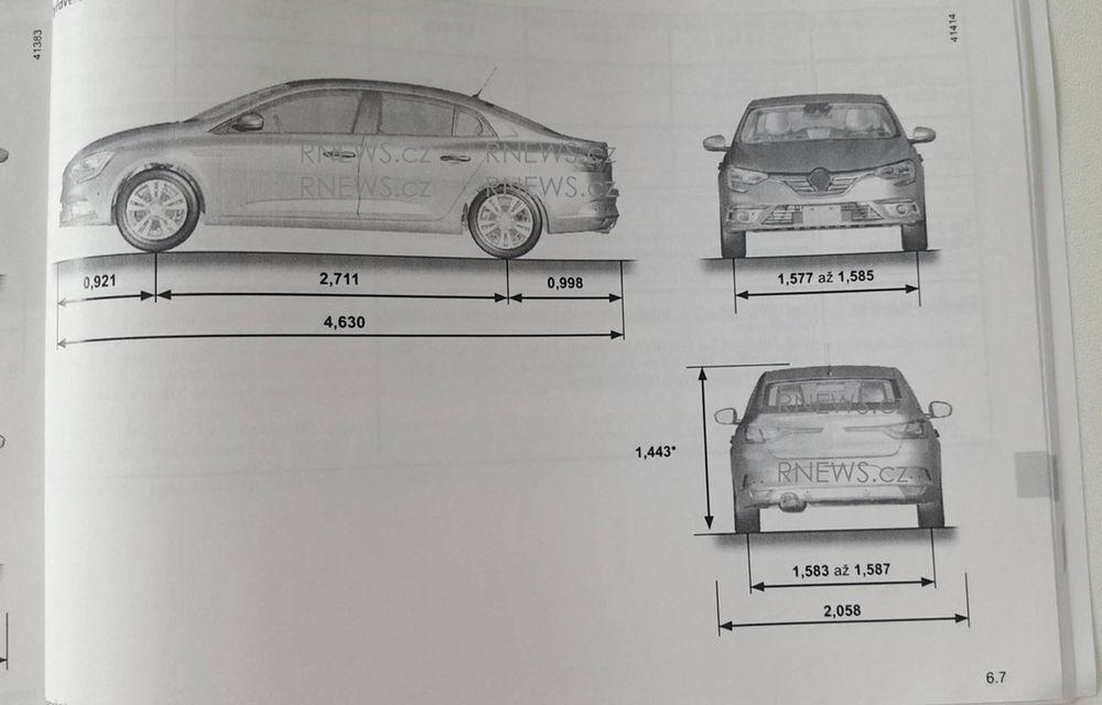 Primul contact cu noul Renault Fluence: schițele din manualul tehnic trădează formele viitorului Megane Sedan - Poza 1