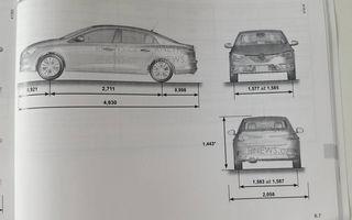 Primul contact cu noul Renault Fluence: schițele din manualul tehnic trădează formele viitorului Megane Sedan