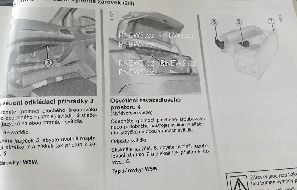 Primul contact cu noul Renault Fluence: schițele din manualul tehnic trădează formele viitorului Megane Sedan - Poza 2