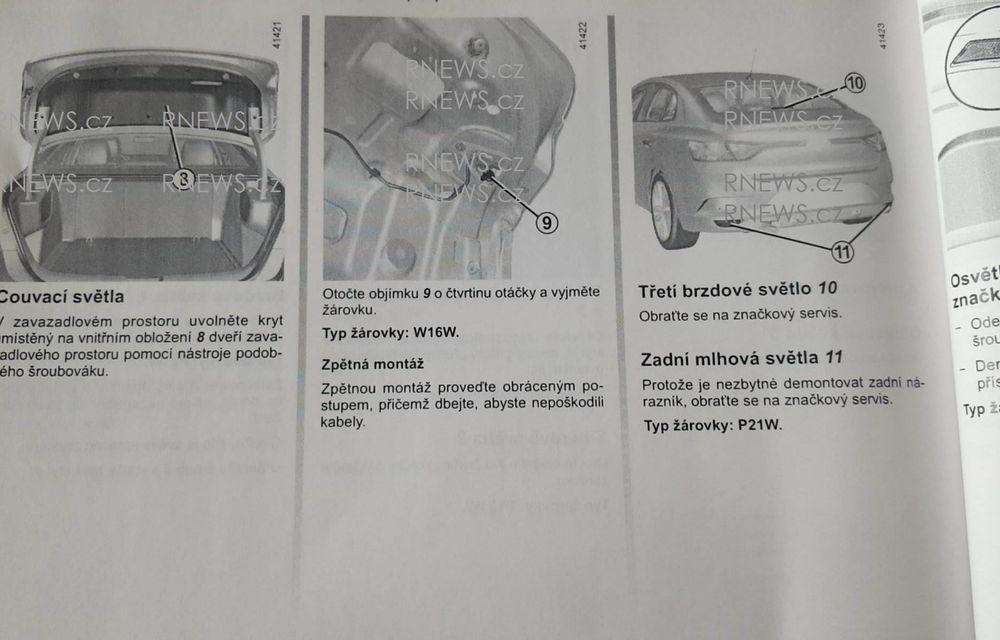 Primul contact cu noul Renault Fluence: schițele din manualul tehnic trădează formele viitorului Megane Sedan - Poza 4