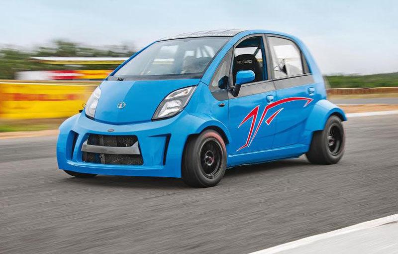 """Cea mai ieftină mașină din lume s-a """"măritat"""" cu un motor de motocicletă de 200 de cai putere și a devenit Tata Super Nano - Poza 1"""