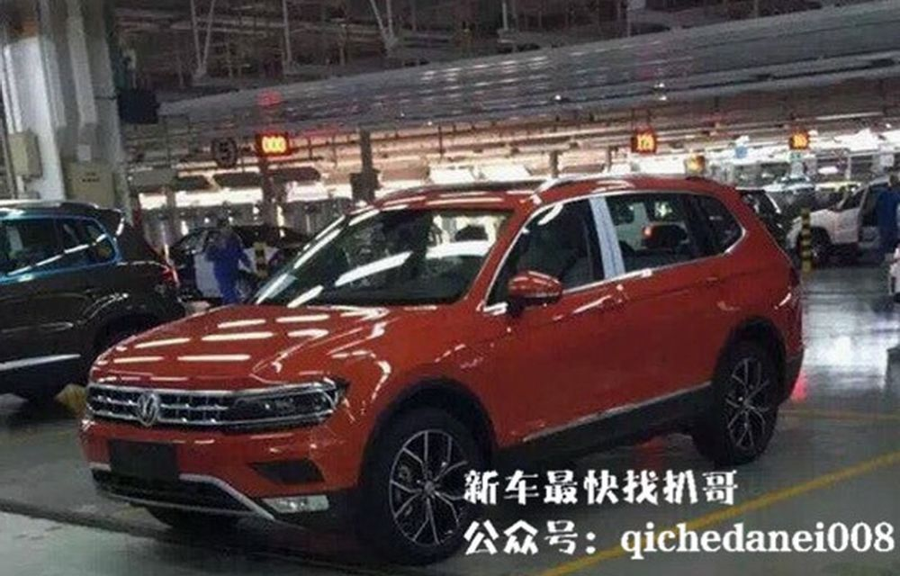 Actualul Volkswagen Tiguan crește: primele imagini cu noua variantă de șapte locuri - Poza 3