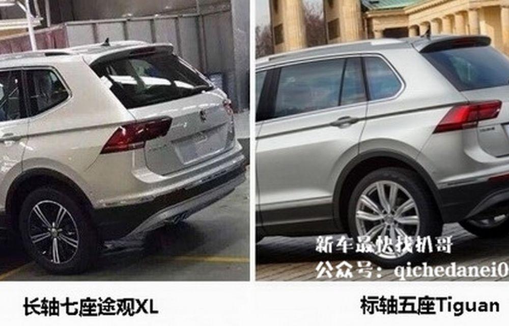 Actualul Volkswagen Tiguan crește: primele imagini cu noua variantă de șapte locuri - Poza 5