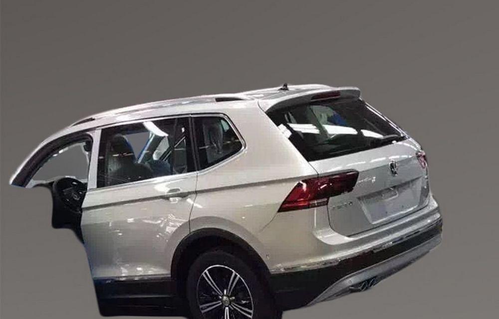 Actualul Volkswagen Tiguan crește: primele imagini cu noua variantă de șapte locuri - Poza 6