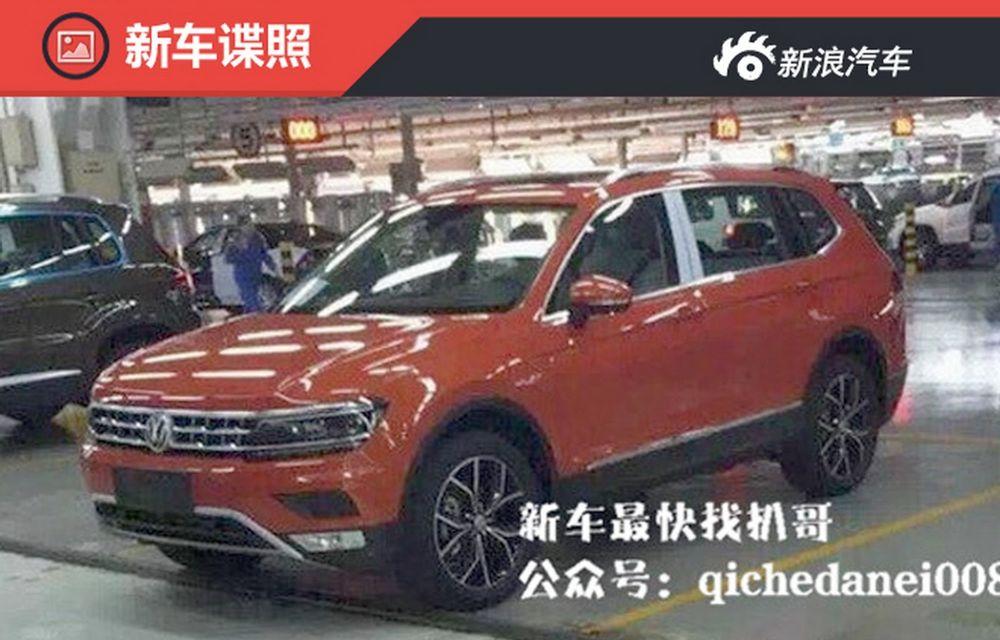 Actualul Volkswagen Tiguan crește: primele imagini cu noua variantă de șapte locuri - Poza 2