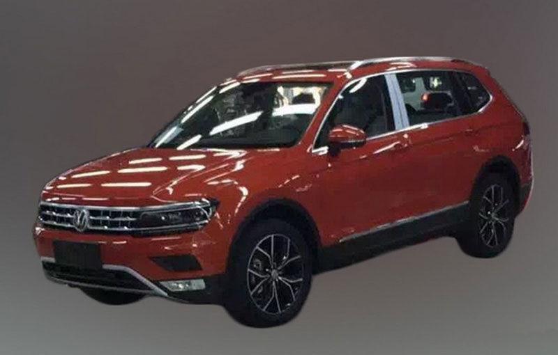 Actualul Volkswagen Tiguan crește: primele imagini cu noua variantă de șapte locuri - Poza 1