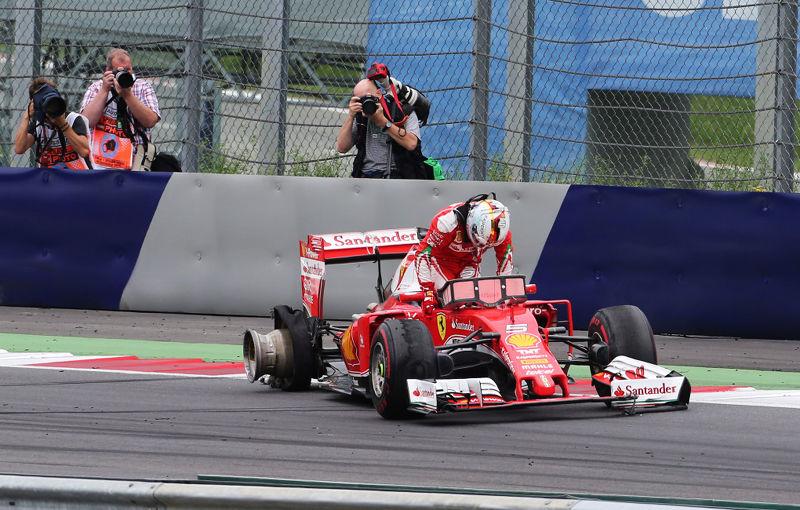 Ferrari nu a greşit strategia în Austria: pana lui Vettel, cauzată de resturi de materiale de pe circuit - Poza 1
