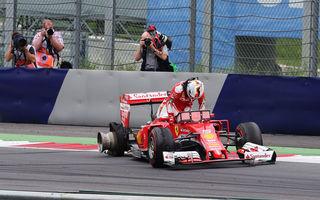 Ferrari nu a greşit strategia în Austria: pana lui Vettel, cauzată de resturi de materiale de pe circuit