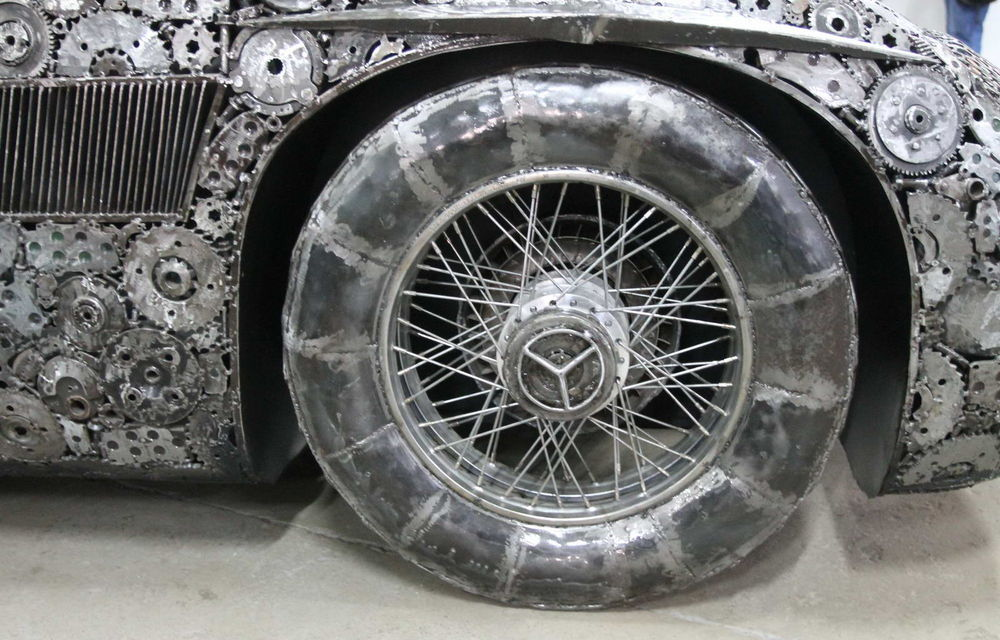 Programul Rabla naște opere de artă: Bugatti Veyron, Lamborghini Aventador și Mercedes 300 SL, reproduse din fier vechi - Poza 7