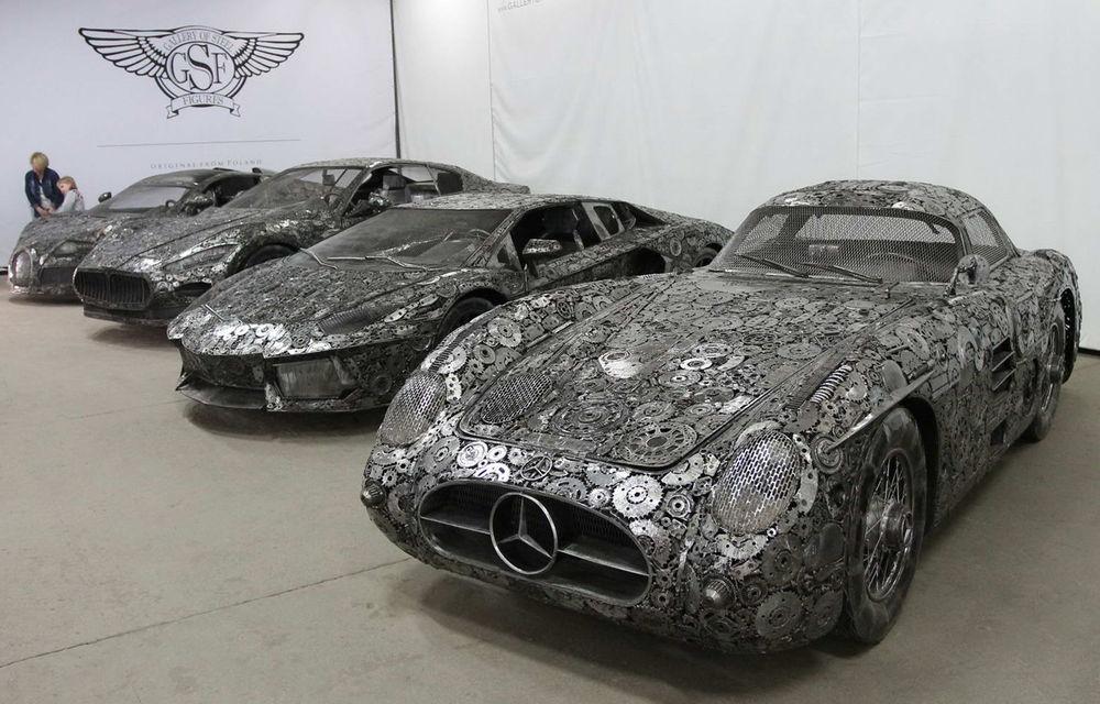 Programul Rabla naște opere de artă: Bugatti Veyron, Lamborghini Aventador și Mercedes 300 SL, reproduse din fier vechi - Poza 1