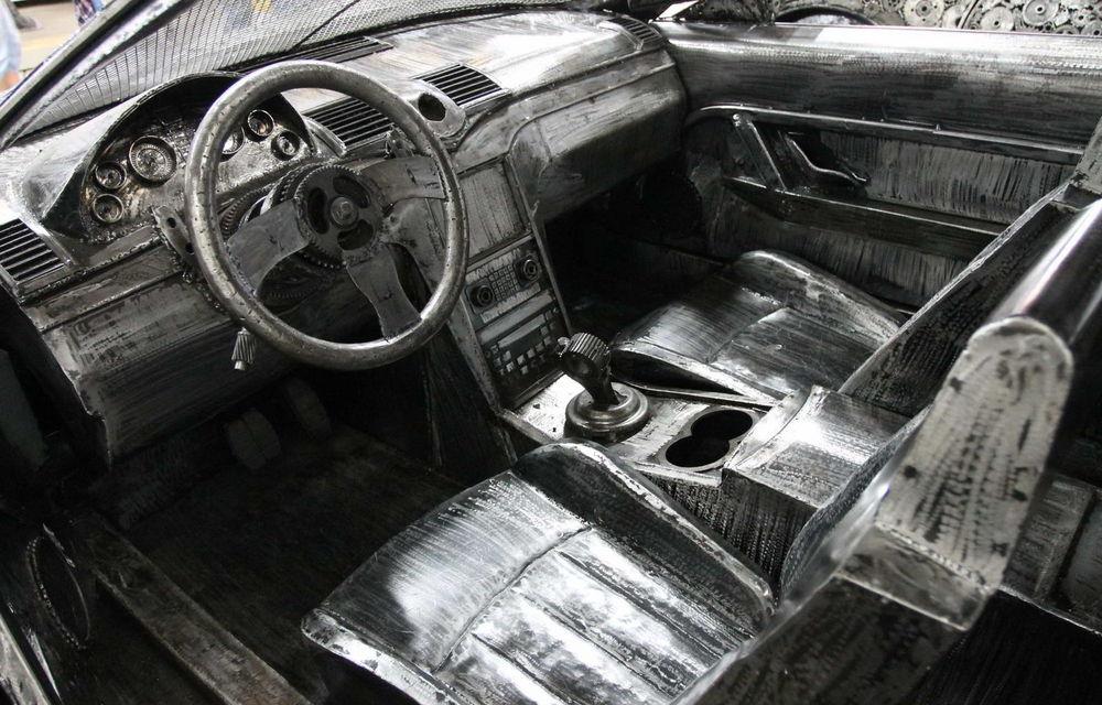 Programul Rabla naște opere de artă: Bugatti Veyron, Lamborghini Aventador și Mercedes 300 SL, reproduse din fier vechi - Poza 6