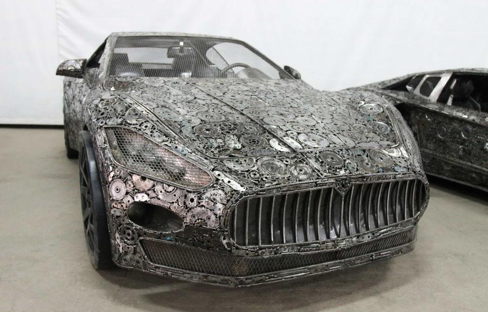 Programul Rabla naște opere de artă: Bugatti Veyron, Lamborghini Aventador și Mercedes 300 SL, reproduse din fier vechi - Poza 4