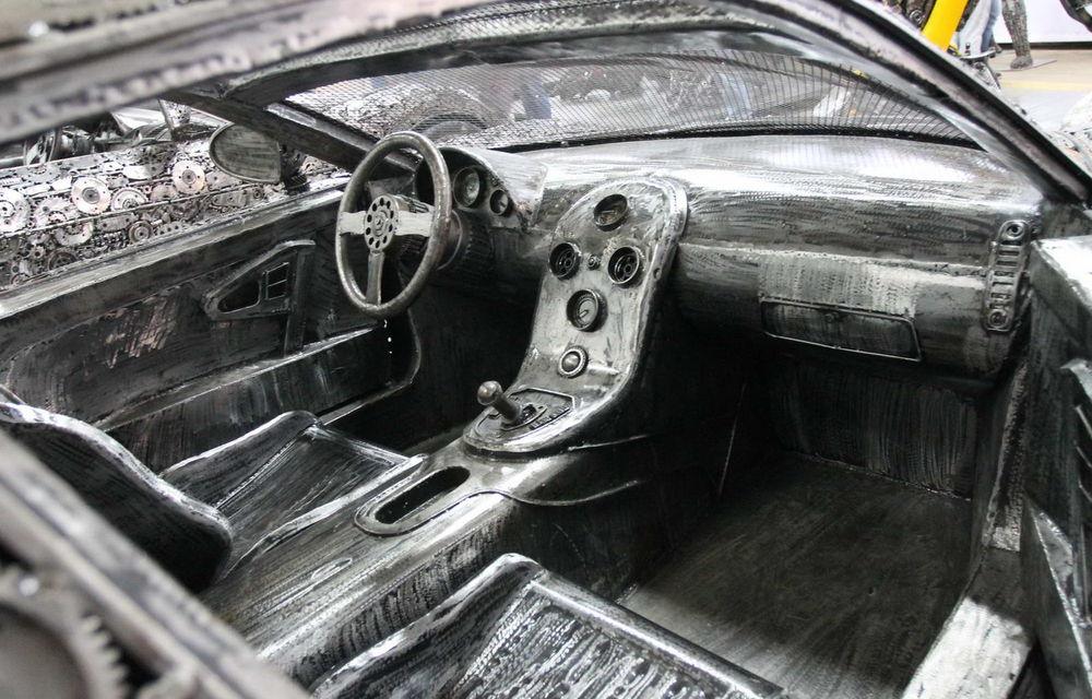 Programul Rabla naște opere de artă: Bugatti Veyron, Lamborghini Aventador și Mercedes 300 SL, reproduse din fier vechi - Poza 14