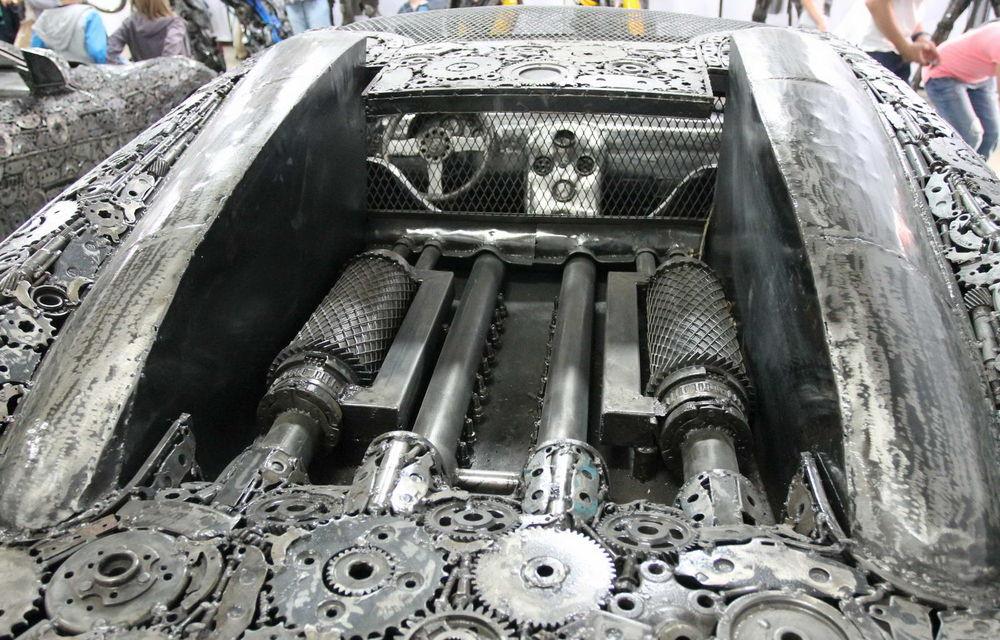Programul Rabla naște opere de artă: Bugatti Veyron, Lamborghini Aventador și Mercedes 300 SL, reproduse din fier vechi - Poza 13