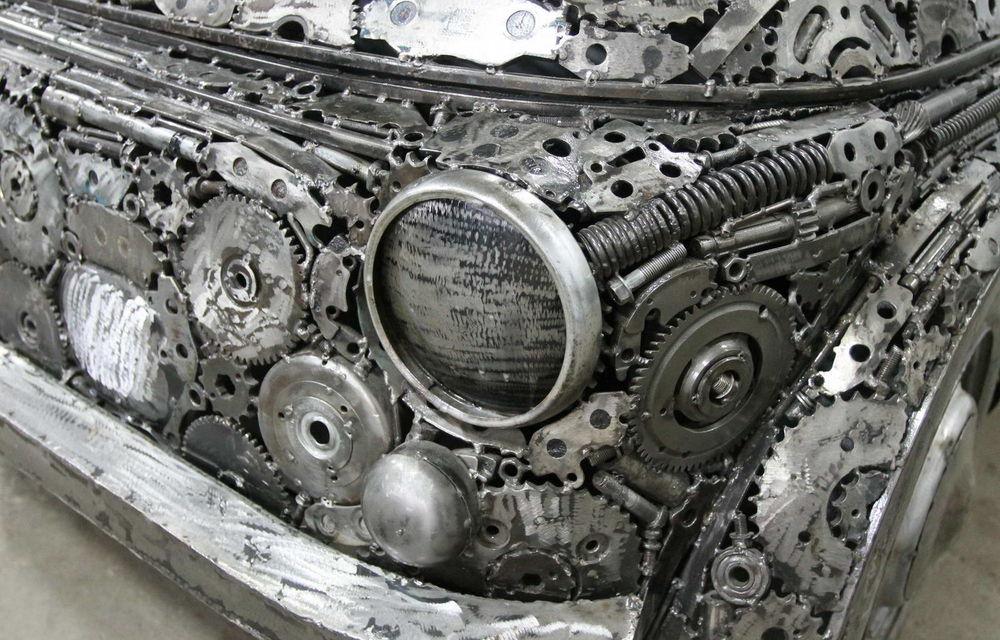 Programul Rabla naște opere de artă: Bugatti Veyron, Lamborghini Aventador și Mercedes 300 SL, reproduse din fier vechi - Poza 11